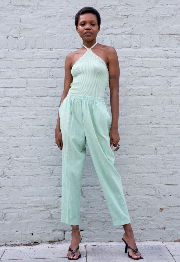 90s Vintage Pastel High Waisted Trousers