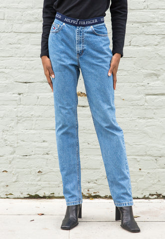 Vintage High Waisted Black Denim Jeans
