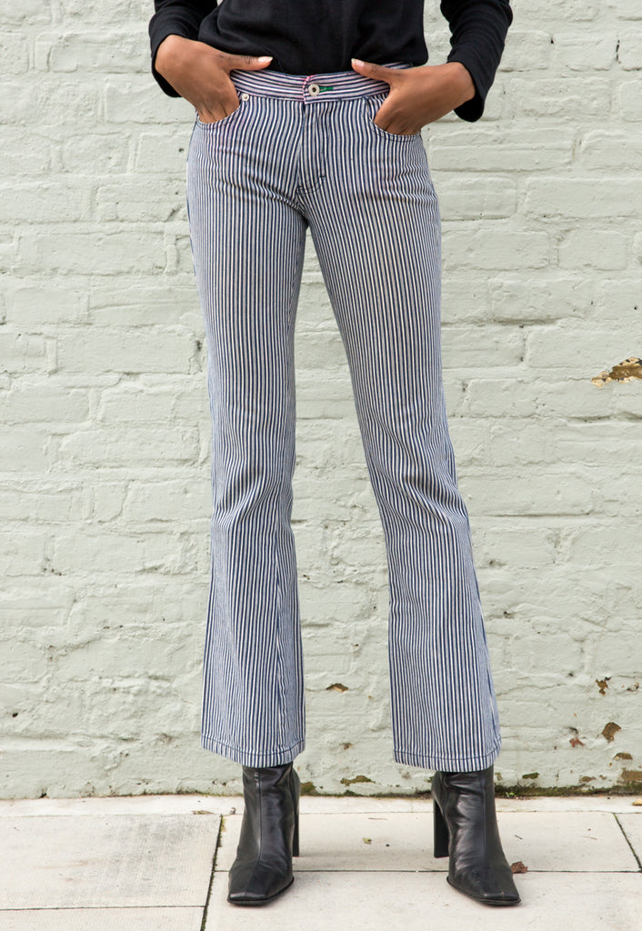 Vintage Tommy Hilfiger Pinstripe Bootcut Jeans