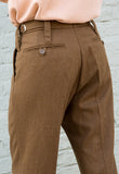 Vintage Brown Melange Work Trousers