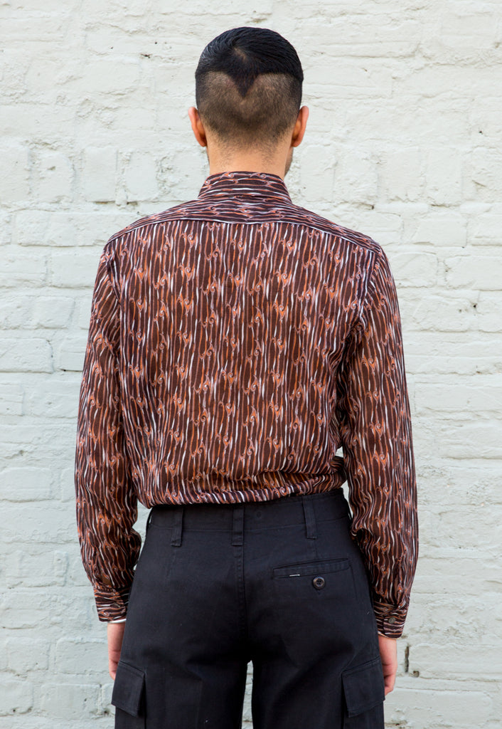 1970s Vintage Tribal Flame Print Shirt