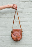 1970s Vintage Brown Leather Bag