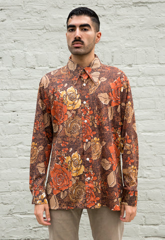 70s Vintage Optical Illusion Print Shirt