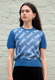 Vintage 1980/90s Blue Knit Top