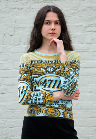 Vintage Reversible Black and Yellow T-shirt