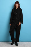 Black Button Up Coveralls