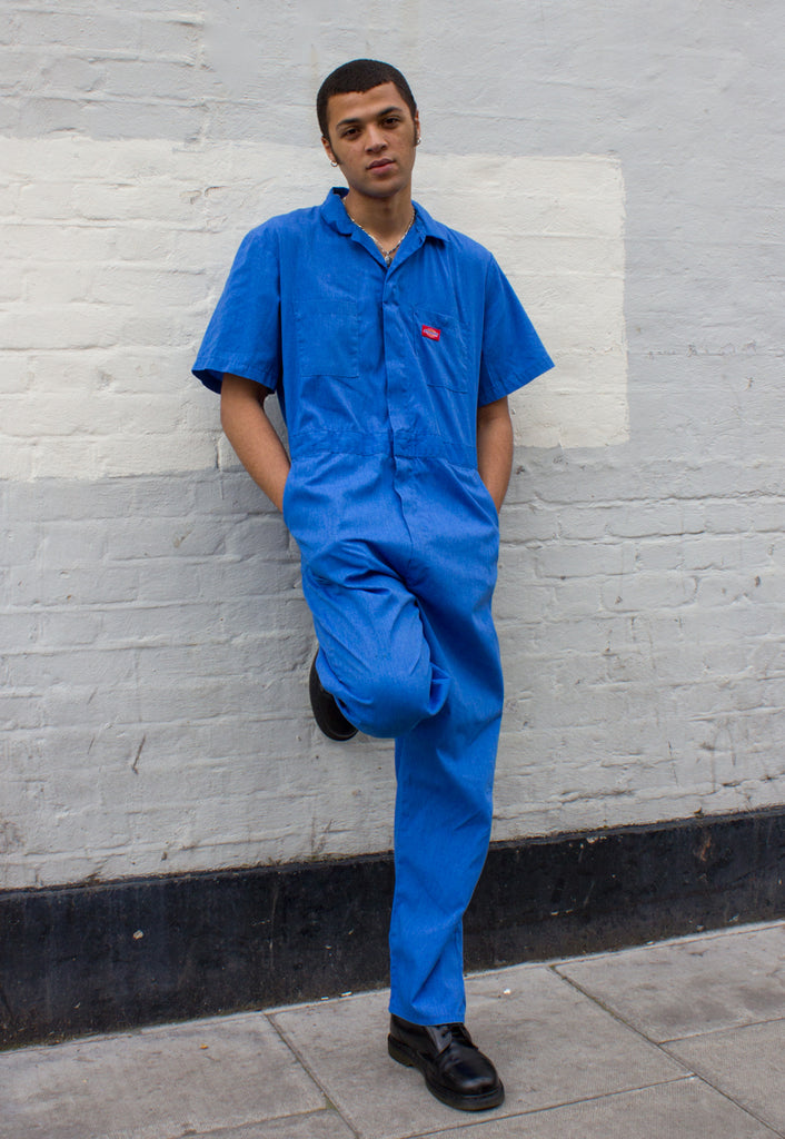 Unisex Dickies Indigo Chambray Short Sleeve Boilersuit