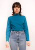 VINTAGE UNISEX RIBBED LONG SLEEVE TURTLENECK