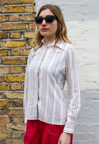 1980s Vintage Novelty Print Blouse