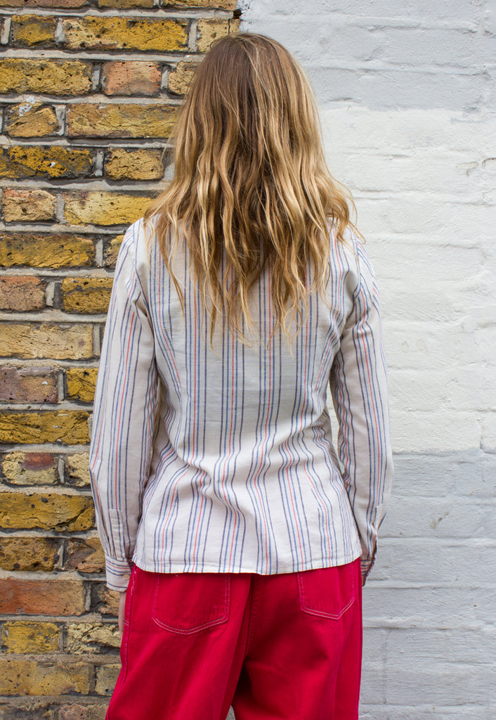 Vintage Cotton Striped Shirt