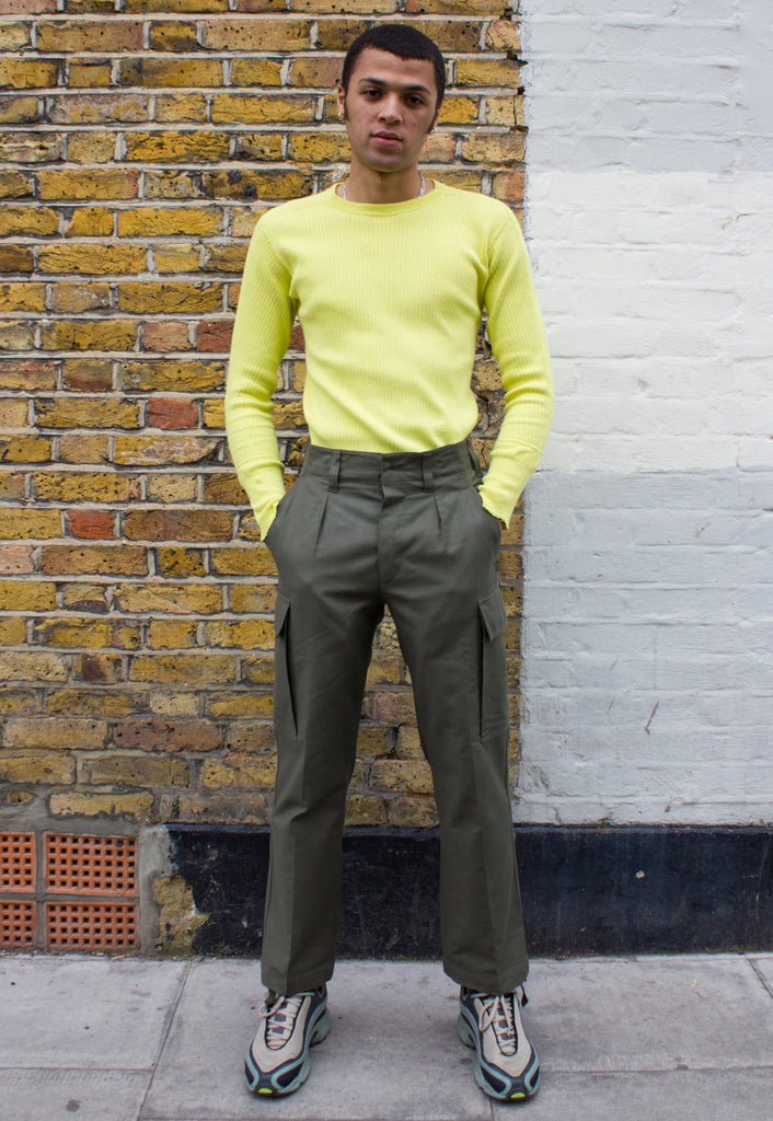 Unisex Swedish Military Thermal in Acid Green Overdye