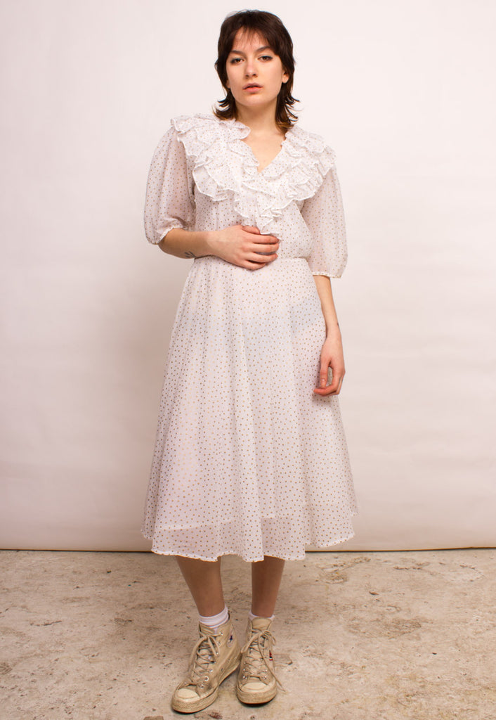 VINTAGE MID-LENGTH DRESS