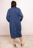 MID-LENGTH VINTAGE DENIM COAT