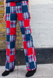 RARE 1960s Vintage Bleeding Madras Plaid Trousers