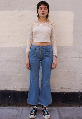VINTAGE LONG DENIM SKIRT