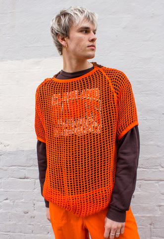 Unisex Thermal in Bright Orange Overdye