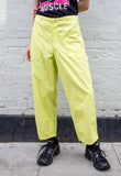 Unisex Vintage Sailor Trouser in Neon Yellow Overdye