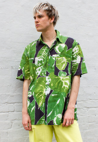 Vintage 80s/90s Hawaiian Miami Florida Novelty Print Shirt