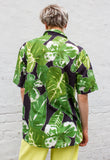 90's Hawaiian Leaf Print Short Sleeved Shirt