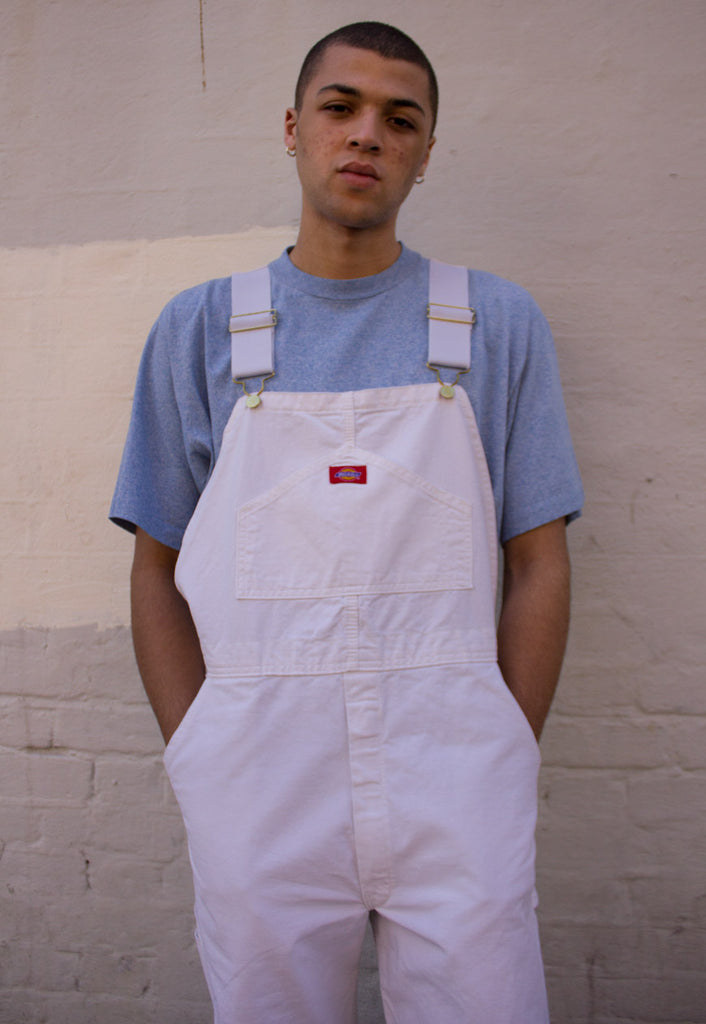 WHITE DICKIE'S DUNGAREES