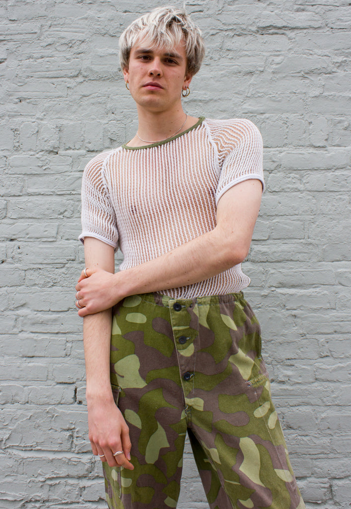 Vintage Unisex Military String T-shirt