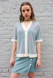 Vintage 70's Stripe Knit Top