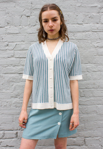 1970s Vintage Chevron Stripe Knit Top