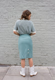 1990s High Waisted Cotton Pencil Skirt