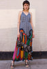 VINTAGE HALTER NECK MAXI DRESS