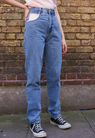 90s Vintage Brown High Waist 'Mom' Jeans