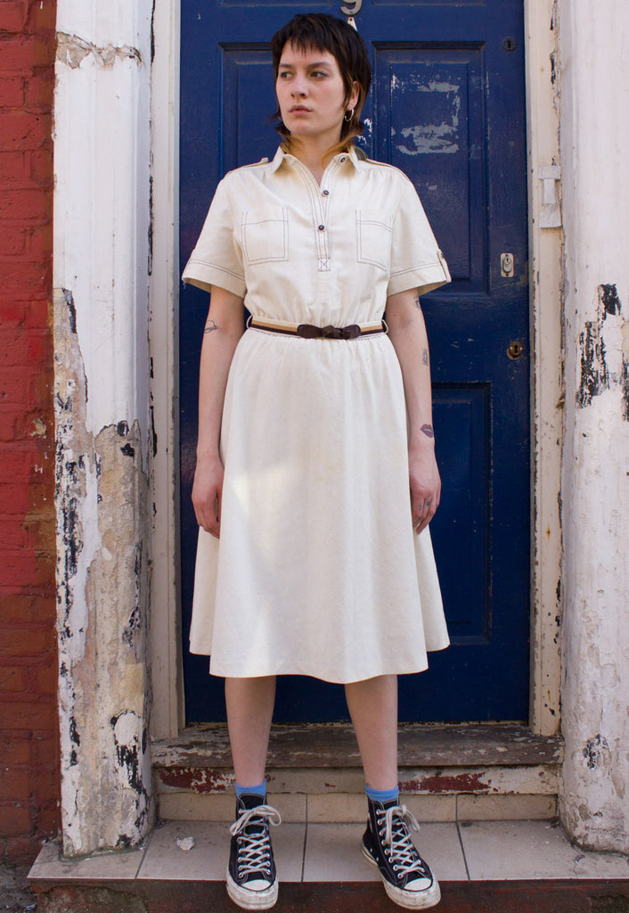 VINTAGE CREAM SHIRT DRESS