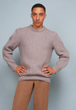 CHUNKY GREY MOHAIR KNITTED JUMPER
