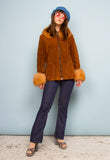 VINTAGE 1970'S TAN SHEEPSKIN JACKET