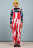 STRIPED DUNGAREES