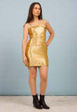METALLIC PARTY DRESS