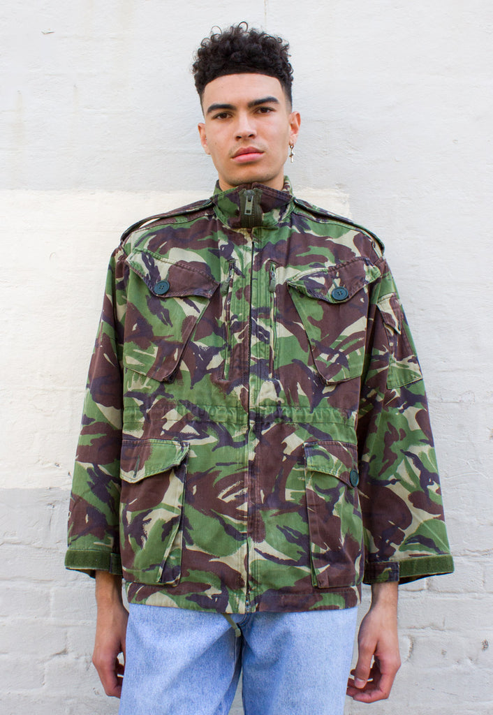 Vintage Camouflage Military Coat