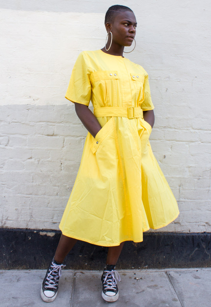 VINTAGE YELLOW SUNDRESS