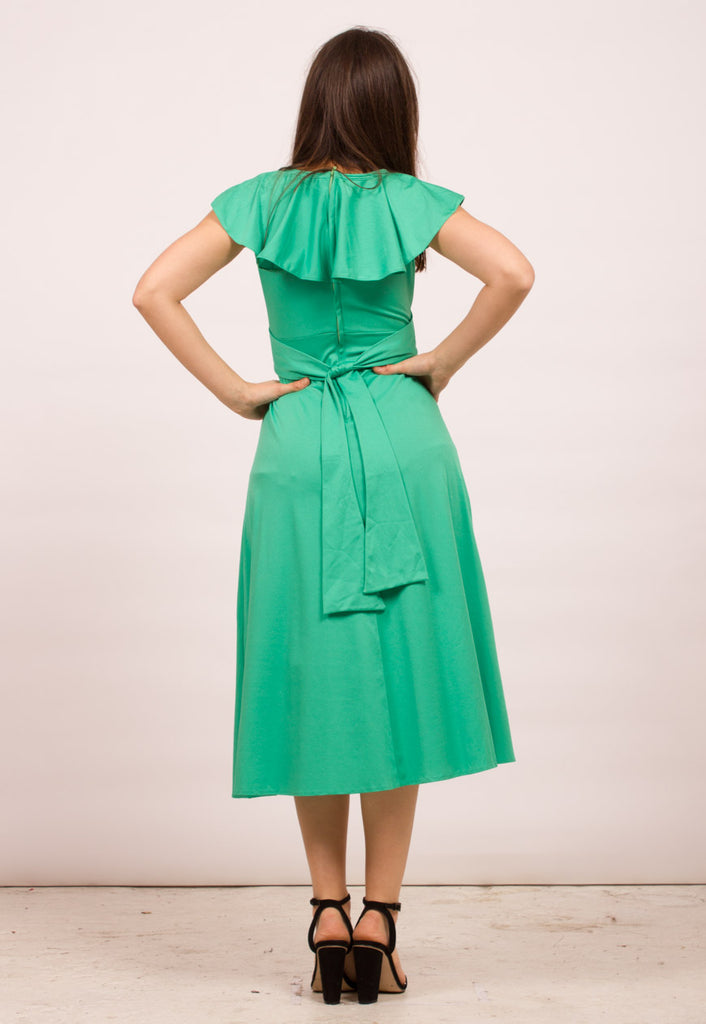 VINTAGE MID-LENGTH TEA DRESS