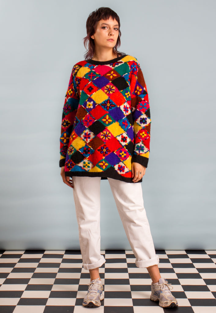90's VINTAGE OVERSIZED HIPPY JUMPER