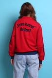 80s 90s Vintage German Adidas Red Track Jacket