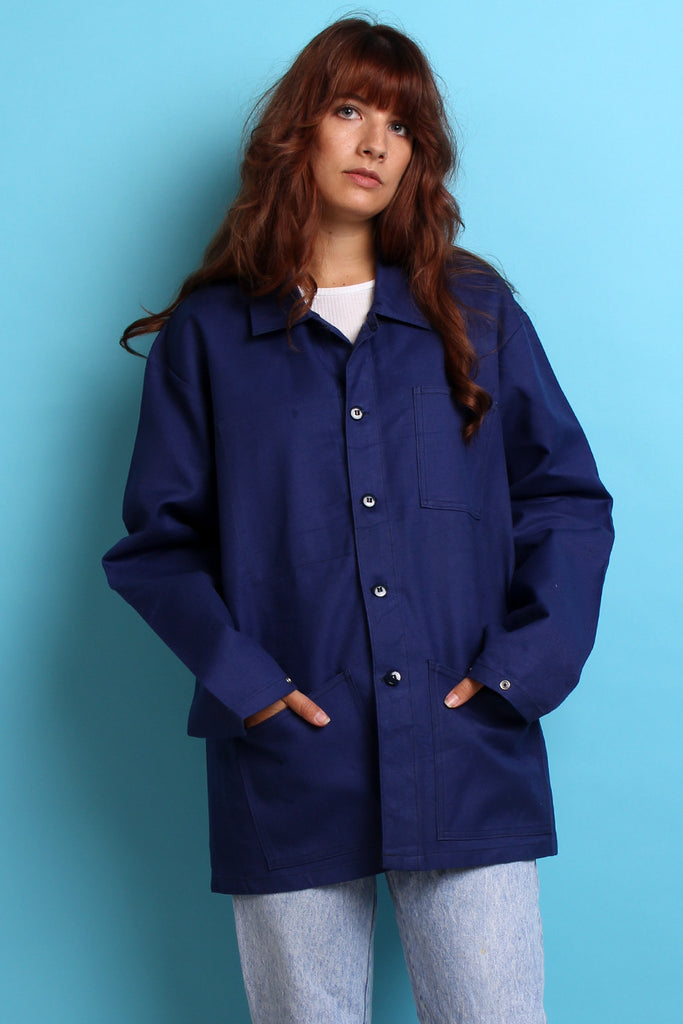 Blue French Workwear Jacket M