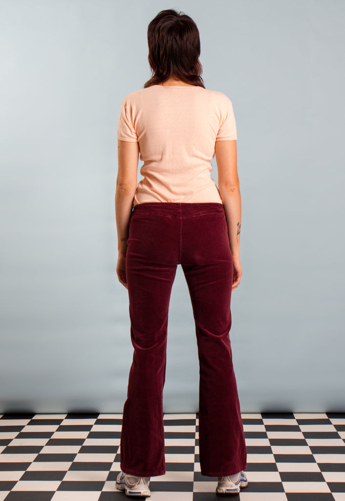 70s Style Corduroy Flared Trousers