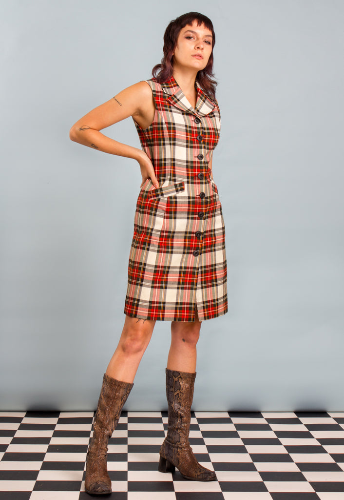 Tartan Button Down Dress