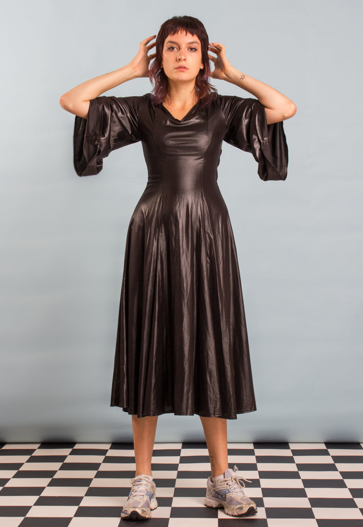 VINTAGE BLACK LAME DRESS