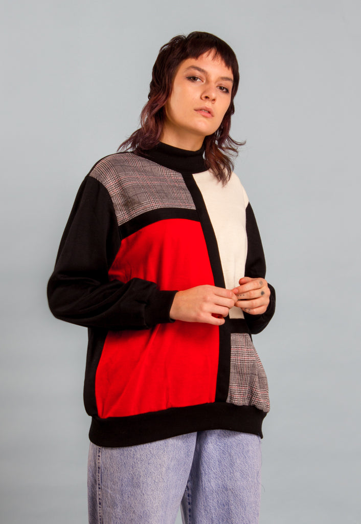 VINTAGE 80'S COLOUR BLOCK SWEATSHIRT