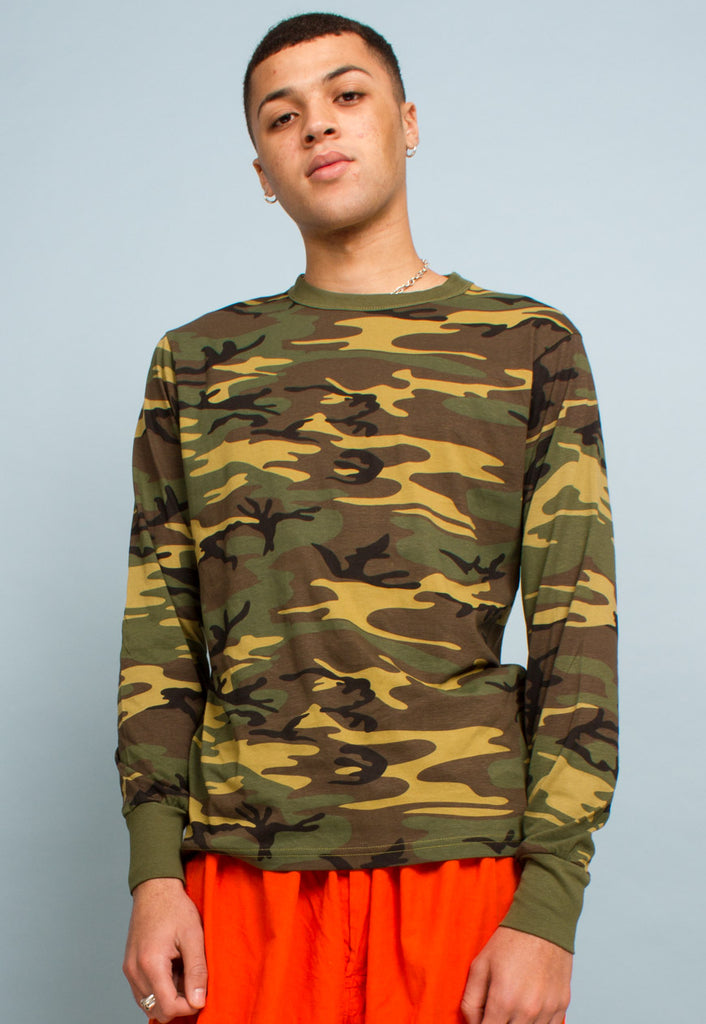 VINTAGE CAMO LONG SLEEVE TOP