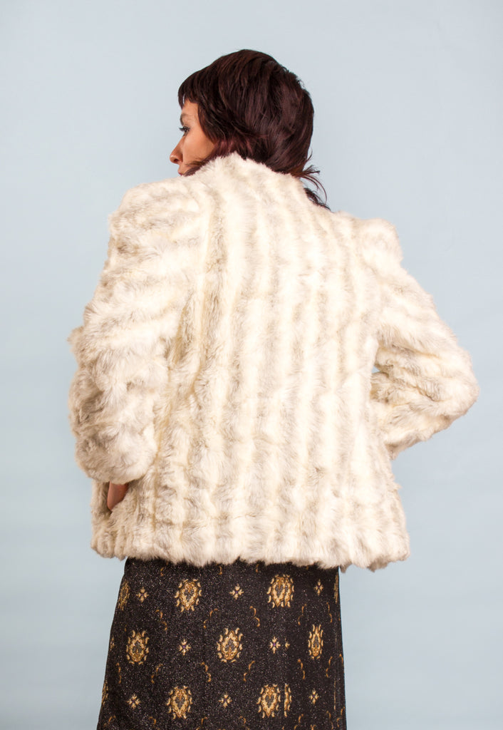 Vintage Cropped Faux Fur Coat