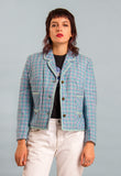 Vintage 80s does 60s Plaid Suit Jacket
