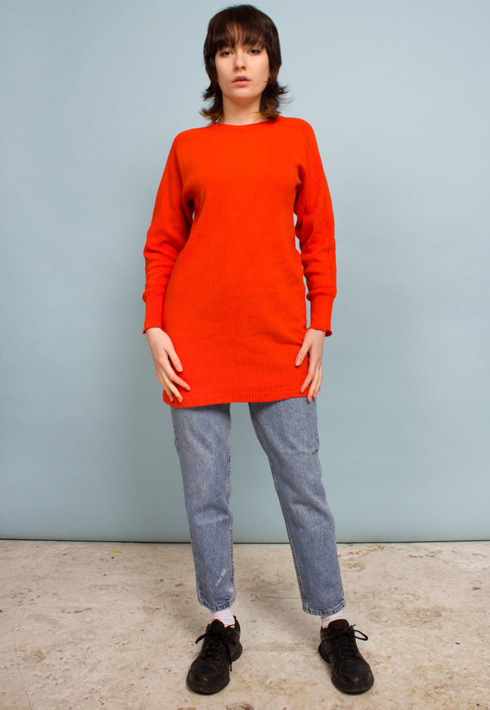 OVERDYED LONG SLEEVED TOP / DRESS