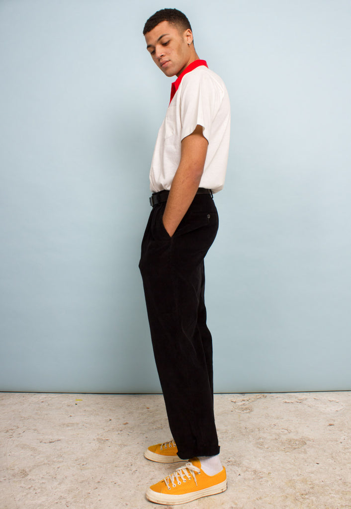 VINTAGE WIDE LEG CORD TROUSERS